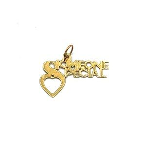 """14K Gold """"Special Someone"""" Charm or Pendant"""